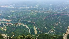 Montserrat Mountains Near Barcelona, en Cataluña, España Es parte de la gama catalana de Pre-Coastal Cataluña, España almacen de metraje de vídeo