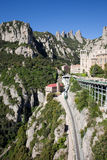 Montserrat Mountains Rack Railway in Catalonia Stock Photos