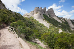 Montserrat Mountains in Spanje Royalty-vrije Stock Fotografie