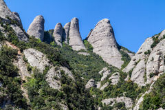 Montserrat mountains Royalty Free Stock Photography