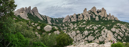 Montserrat mountains wide angle, Spain Stock Photo