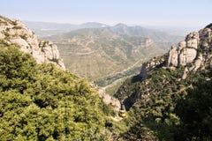 Montserrat multi-een hoogtepunt bereikte bergenmening, Barcelona, Spanje stock afbeelding