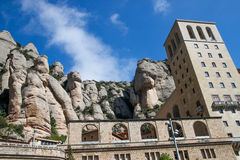 Montserrat nära Barcelona, Spanien Arkivfoto