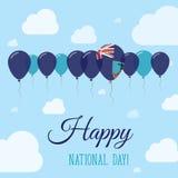 Montserrat National Day Flat Patriotic Poster. Stock Photo