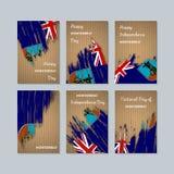 Montserrat Patriotic Cards para el día nacional stock de ilustración