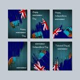 Montserrat Patriotic Cards per la festa nazionale royalty illustrazione gratis