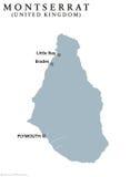 Montserrat political map Royalty Free Stock Photography