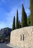 Montserrat road,Spain Royalty Free Stock Images