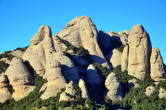 Montserrat rocks Stock Photos