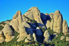 Montserrat rocks Royalty Free Stock Images