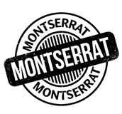 Montserrat rubber stamp. Grunge design with dust scratches. Effects can be easily removed for a clean, crisp look. Color is easily changed Stock Images