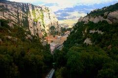 Montserrat ` s monaster obraz royalty free