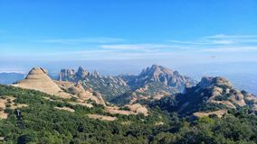 Montserrat`s peaks views royalty free stock photos