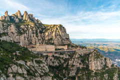 Montserrat. Santa Maria de Montserrat monastery. Monastery on mountain near Barcelona, in Catalonia Royalty Free Stock Image