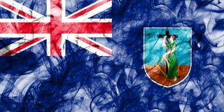 Montserrat smoke flag, British Overseas Territories, Britain dep. Endent territory flag Stock Photography