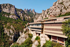 Montserrat, Spain. The monastery of Montserrat in Spain Stock Photos