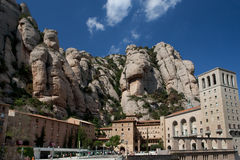 Montserrat in Spain. The mountain top monastery of Montserrat in Spain surrounded by dramatic mountain scenery Stock Images