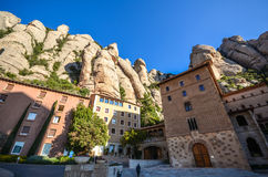 Montserrat Spain. Montserrat (Catalan pronunciation: [munsəˈrat]) is a multi-peaked mountain located near the city of Barcelona, in Catalonia, Spain. It stock image