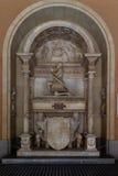 Montserrat Spanien, September 20th, 2016: Monument inom av Santa Maria de Montserrat Abbey Abadia de Montserrat Royaltyfri Bild