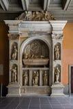 Montserrat Spanien, September 20th, 2016: Monument inom av Santa Maria de Montserrat Abbey Abadia de Montserrat Arkivfoton