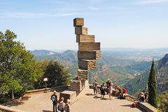 MONTSERRAT, SPANJE - AUGUSTUS 14, 2013: Abstract monument Royalty-vrije Stock Afbeeldingen