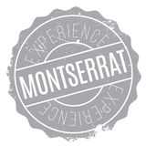Montserrat stamp rubber grunge Royalty Free Stock Photo