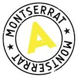 Montserrat stamp rubber grunge Stock Image