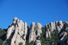 Montserrat szczyty Zdjęcia Royalty Free