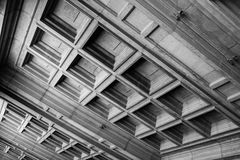 Montserrat tiles BW. Tiled ceiling around the monastery at Montserrat Royalty Free Stock Photography