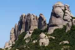 Montserrat. View of Montserrat mountains (Spain stock photo