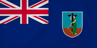 Montserrat waving flag. Vector image of the Montserrat waving flag Stock Image