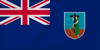 Montserrat waving flag Stock Image