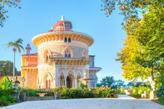 The Montserrate Palace in Sintra, Portugal. View on the Montserrate Palace in Sintra, Portugal Royalty Free Stock Images