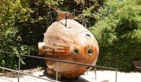 Monturiol潜水艇的复制  免版税图库摄影