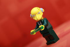 Monty Burns Lego Mini Figure Image libre de droits