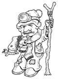 Monty l'homme dans le réfrigérateur illustration de vecteur
