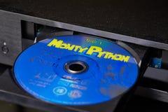 Monty Python DVD i święty graal Zdjęcia Stock