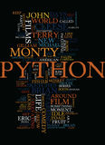 Monty Python Top Comedy Films Text Background Word Cloud Concept Royalty Free Stock Image