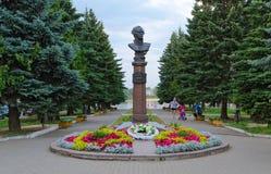 Monument à amiral Ushakov à Rybinsk, Russie Photos stock