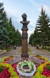 Monument à amiral Ushakov, Rybinsk, Russie Photographie stock libre de droits