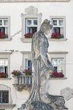 Monument à Amphitrite à Lviv, Ukraine photographie stock