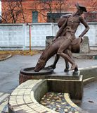 Monument à Baron Munchausen dans Khmelnytsky, Ukraine photographie stock