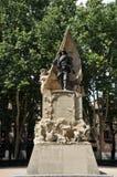 Monument à caporal Luis Noval Ferrao 1887 - 1909, un patriote espagnol qui a été tué au Maroc sur la plaza de Oriente de Madri photographie stock
