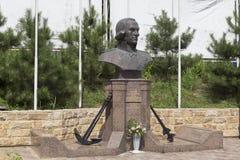 Monument à Fyodor Ushakov dans le règlement Kudepsta, Sotchi, région de Krasnodar, Russie Photographie stock
