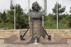 Monument à Fyodor Ushakov dans le temple dans le règlement Kudepsta, Sotchi Photographie stock libre de droits