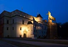 Monument à Gediminas et à son ombre Images stock