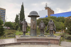 Monument à George Danelia et aux héros du film Mimino images stock
