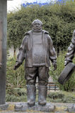 Monument à George Danelia et aux héros du film Mimino images libres de droits