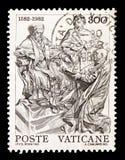 Monument à Gregory XIII, 4ème centenaire de la réforme du serie de calendrier grégorien, vers 1982 images stock