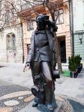Monument à Hans Christian Andersen dans la vieille ville de Bratislava Images stock